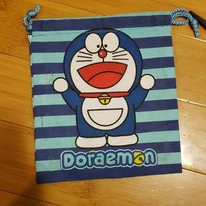 Doraemon striped travel bag